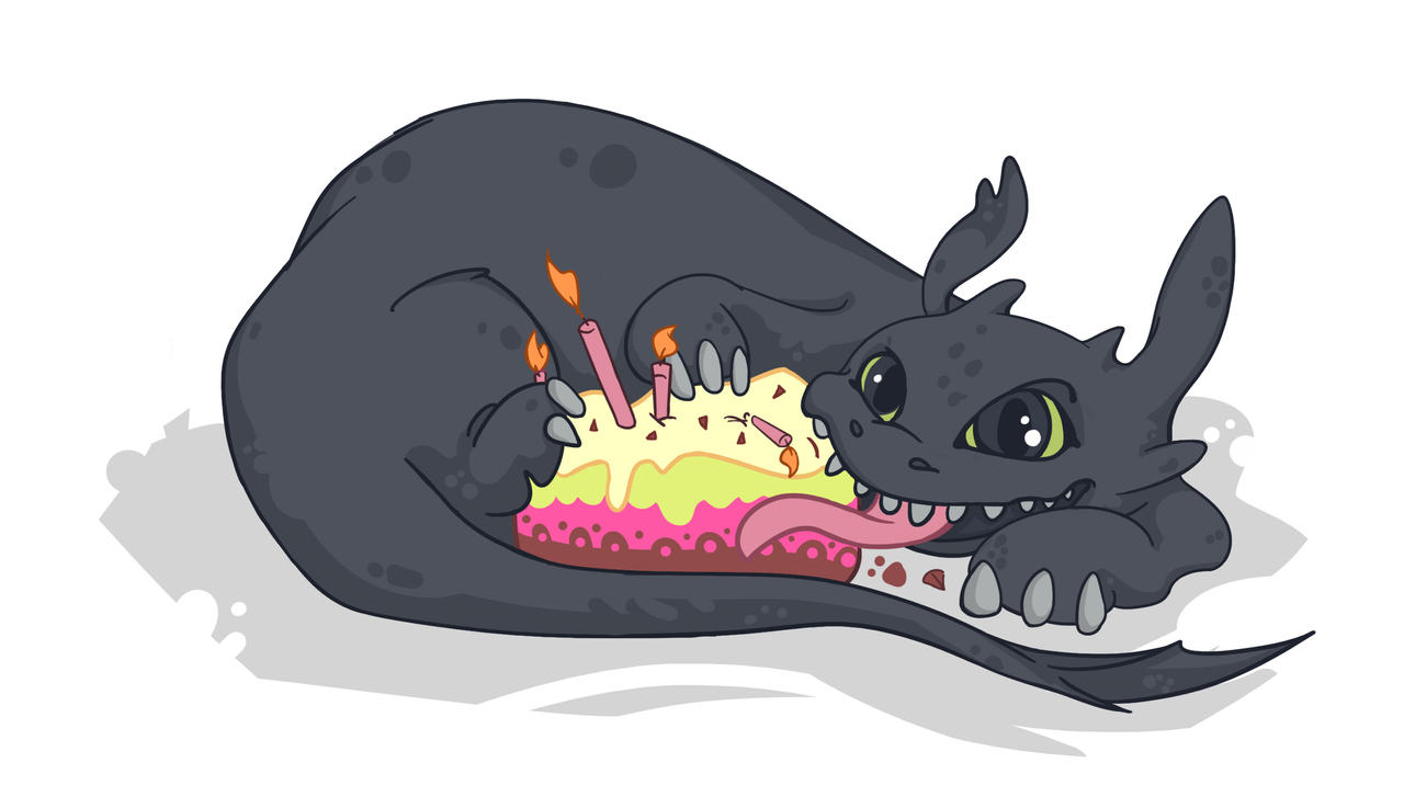 Toothless Eats Cake