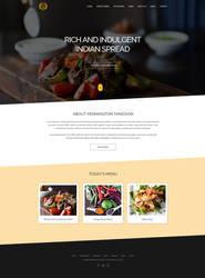 Kennington Tandoori Homepage Design