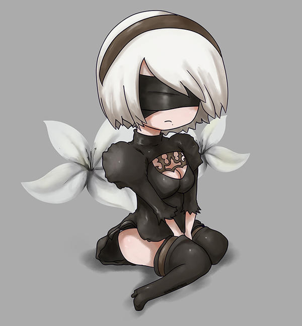 Chibi YoRHa No.2 Type B by DarkSeraphim12