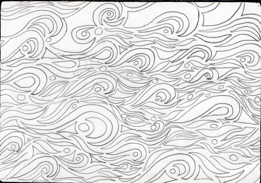 Line Drawing Waves : Line art tribal waves by flintar on deviantart