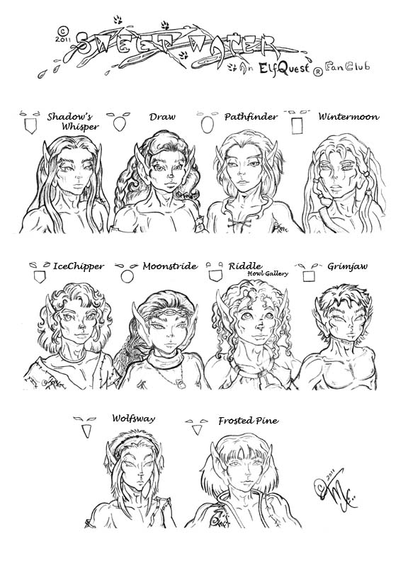 ELFQUEST Male Face Chart  SweetWater.