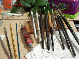 tools for low- relief sculpture by Tah-Marien