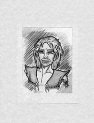 Commission OC/ElfQuest Blacksnake Greyscale by Tah-Marien