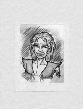 Commission OC/ElfQuest Blacksnake Greyscale