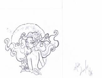 Commission OC/ElfQuest  Embala  Line Art by Tah-Marien