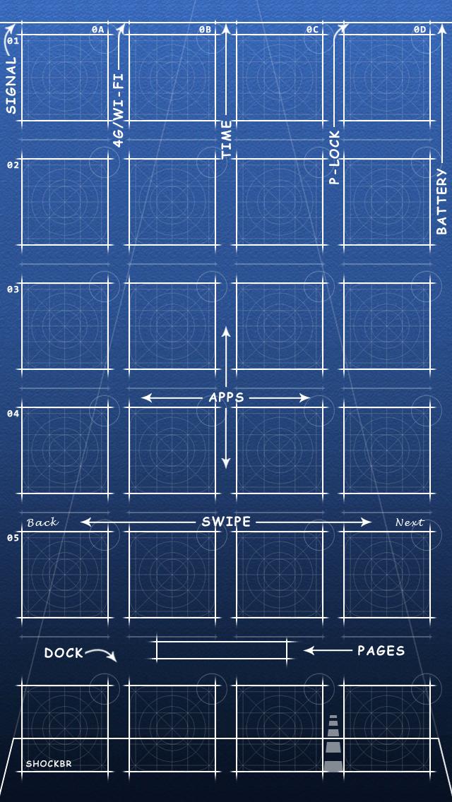 Blueprint Iphone 5s5c Ios 7 4g By Shockbr On Deviantart