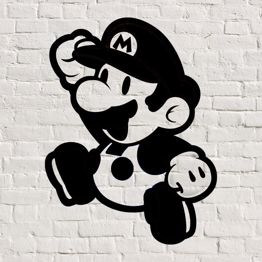 Mario graffiti stencil pshop by tilt on deviantart