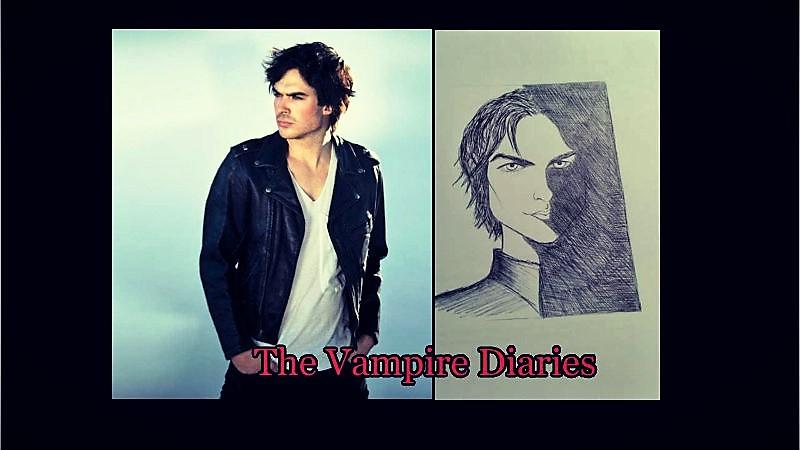 the vampire diaries Damon by princessesihamkhallo