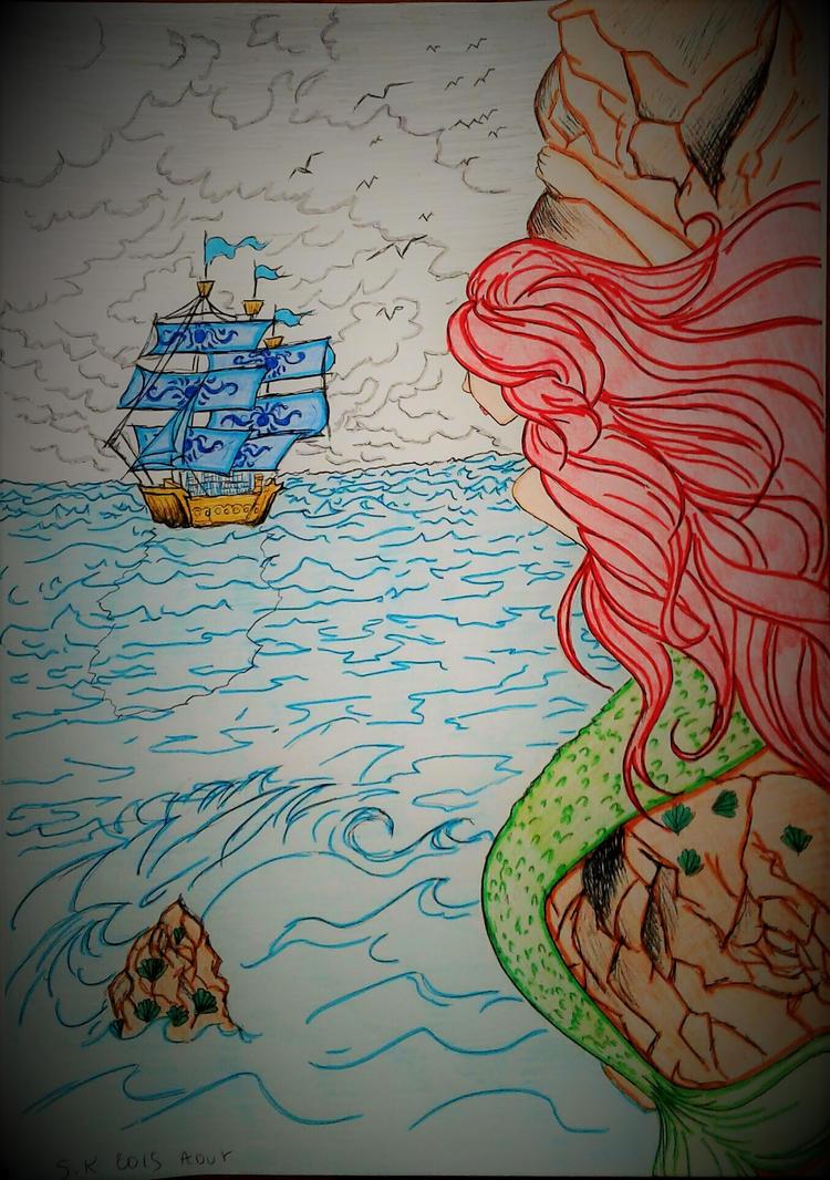 the little mermaid by princessesihamkhallo