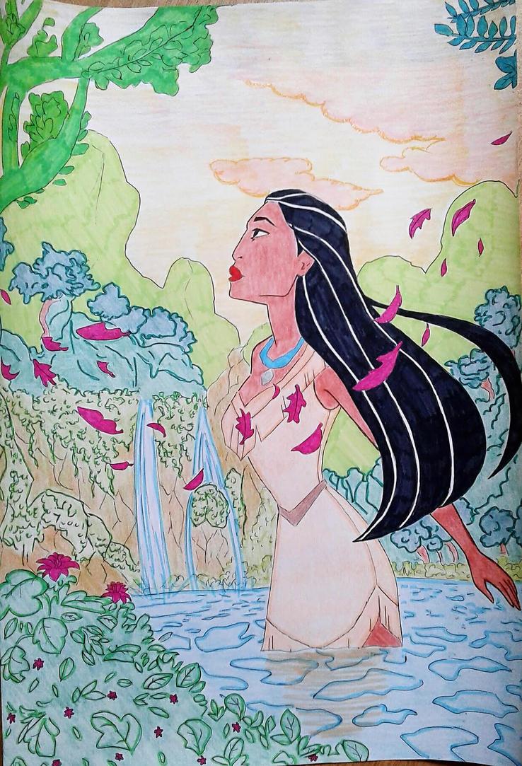 Pocahontas disney 2017 by princessesihamkhallo
