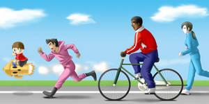Jogging and Roadwork