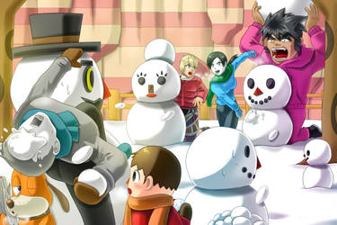 Snowball fight by amito