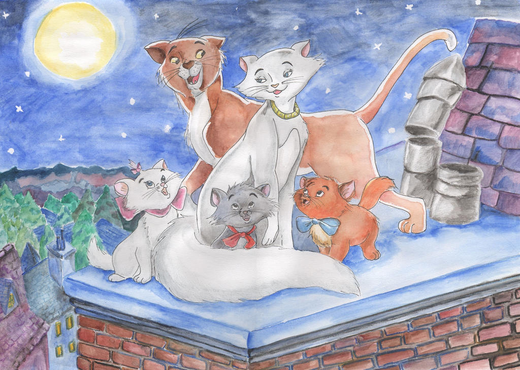 Aristocats - a Night in Paris by Jenniej92