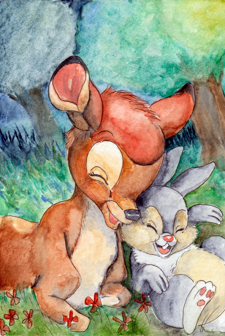 Bambi and Thumper by Jenniej92