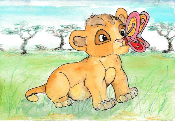 Baby Simba made a Friend by Jenniej92