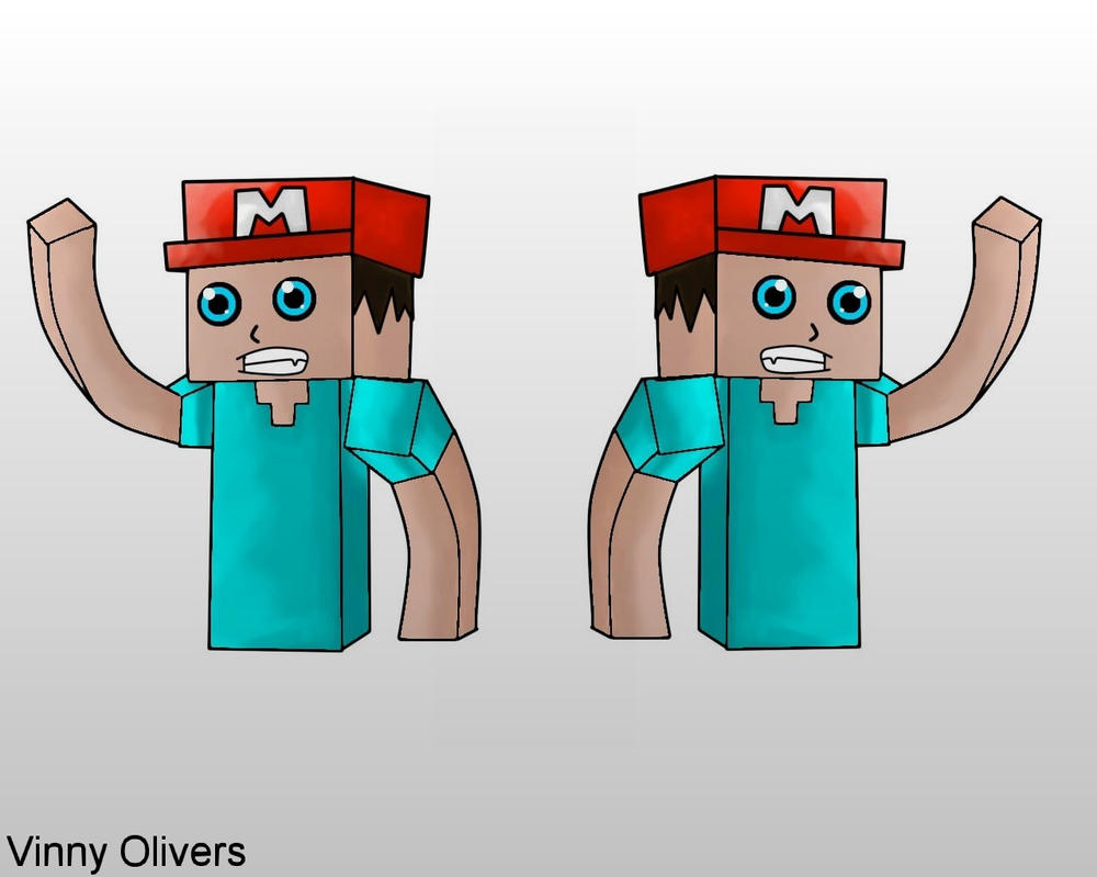 Minecraft Steve by vinnyolivers