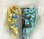 Two buff wonderbolts by RizzyOfen