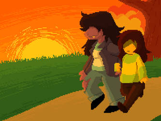 deltarune: Evening Stroll by JustAGirlOnline