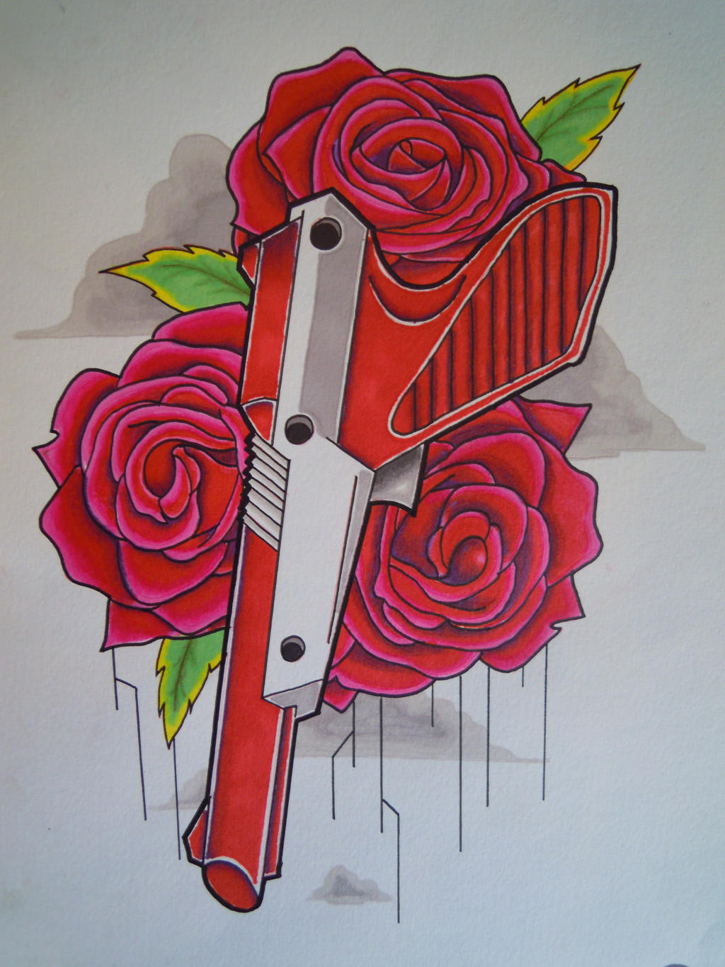 nes gun tattoo flash by aktraizer on deviantart