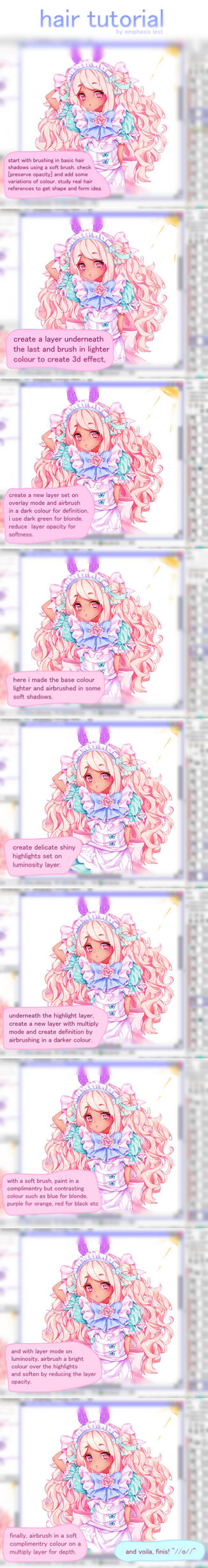 Anime Hair Colouring Tutorial by Emphasis-Lest