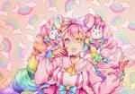 [+Speedpaint] Hana (A Pastel World)
