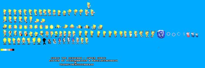 Super Sonic Game Gear Sprites