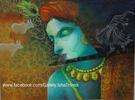 Krishna 1 painted by Isha Trivedi