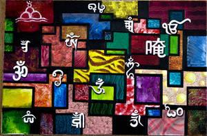 OM - Painted by Isha Trivedi by trivediisha