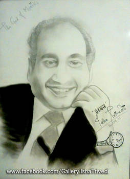 Mohd Rafi Sahab sketched by Isha Trivedi