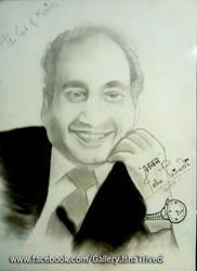 Mohd Rafi Sahab sketched by Isha Trivedi by trivediisha