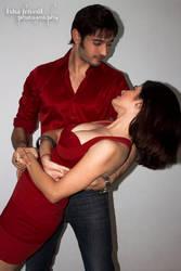 Siddharth Arora and Snehal Sin ROMANTIC RED by trivediisha