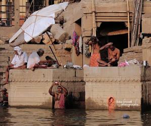 Ganga Ghaat - Varanasi by trivediisha