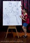 Painting SHIVA-PARVATI : Isha Trivedi