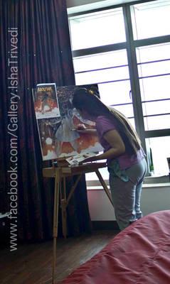 Painting ROCKSTAR : Isha Trivedi