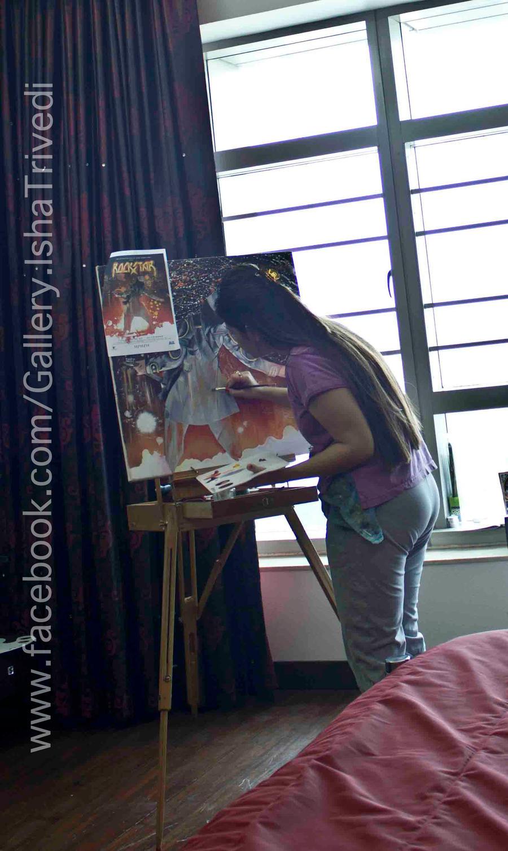 Painting ROCKSTAR : Isha Trivedi by trivediisha