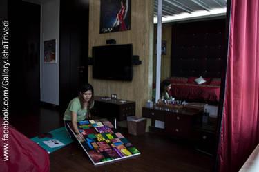 Painting OM IN DIFFERENT LANGUAGES : Isha Trivedi by trivediisha