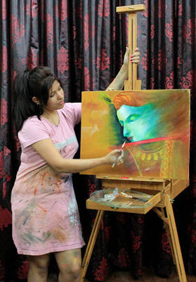 Painting KRISHNA : Isha Trivedi
