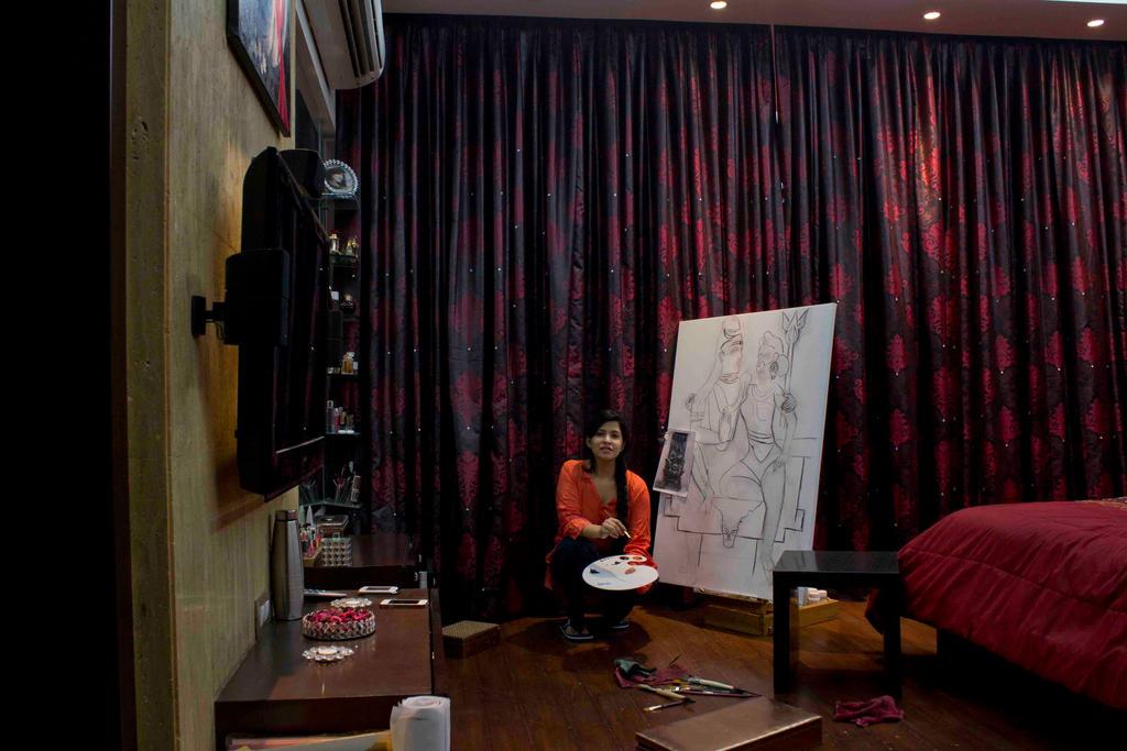 Painting SHIVA-PARVATI - Isha Trivedi by trivediisha