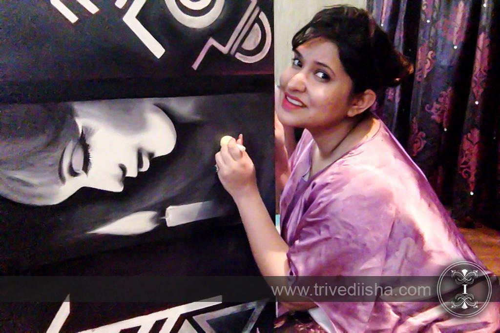 While painting my next !! by trivediisha