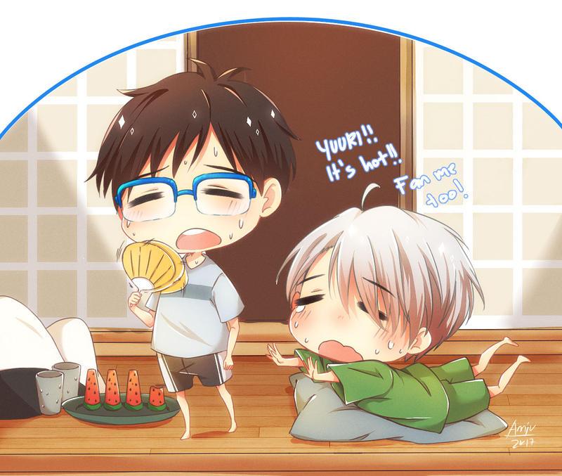 It's hot! by annJu-chan