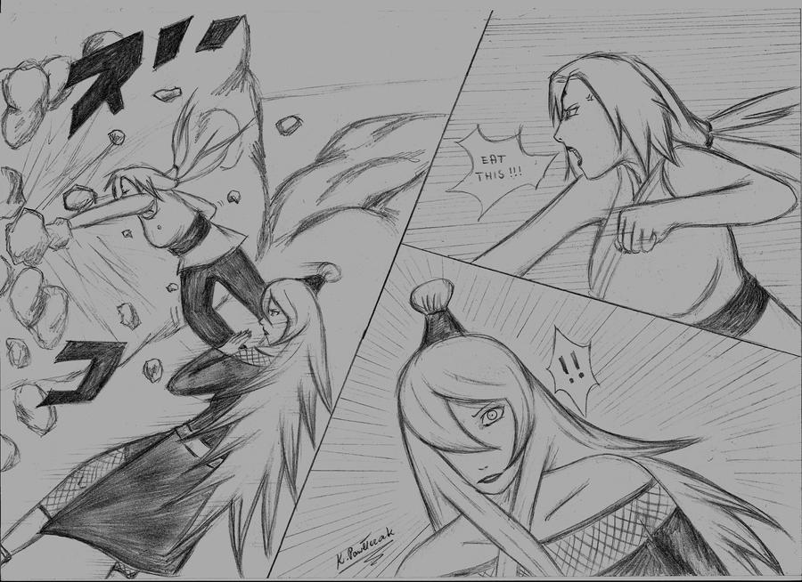 Tsunade vs Mizukage by LadyTsunadePl