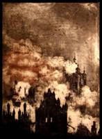 Burning church by Asurka