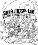 Super Fluttershy Land 2 Cover Art Lines