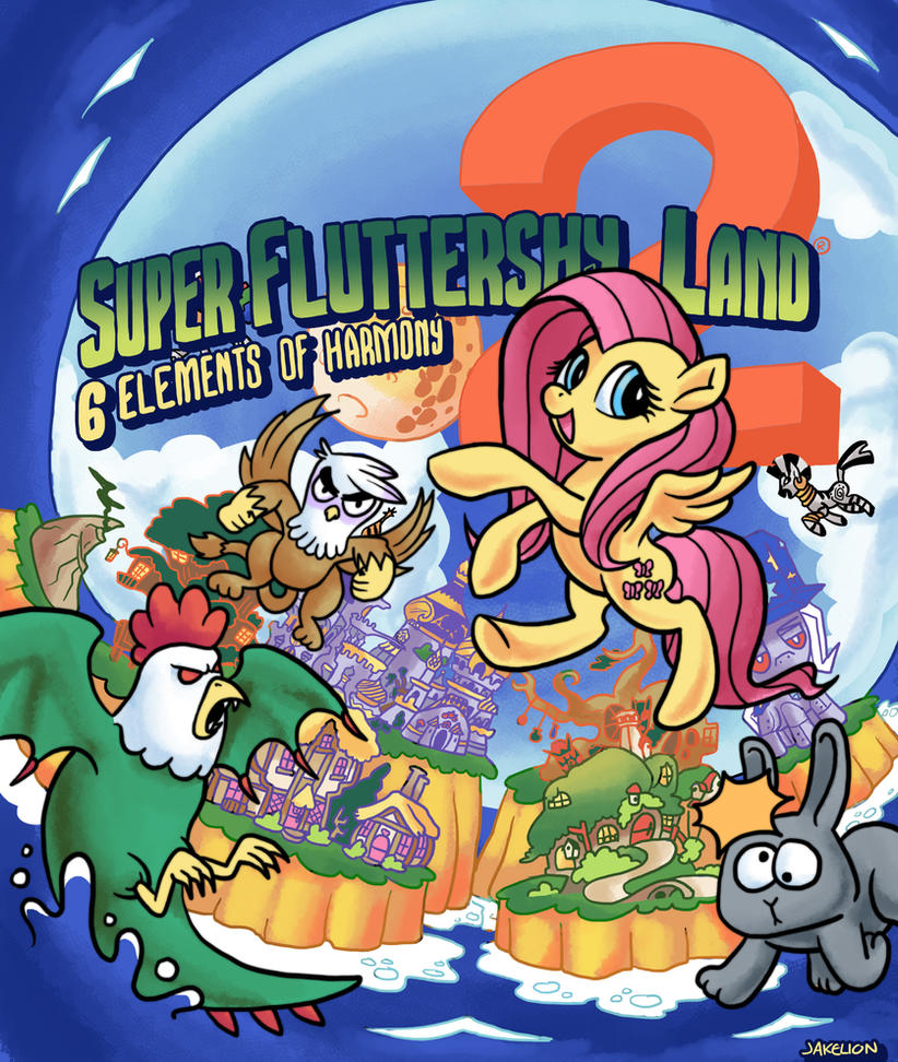 Super Fluttershy Land 2 Cover Art Done by DocWario