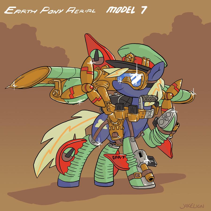 Earth Pony Aerial Model 7 by DocWario