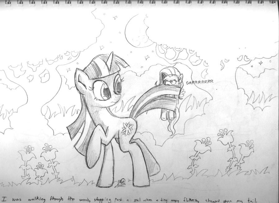 GS Sketchbook 7 - Tiny Angry Fluttershy by DocWario