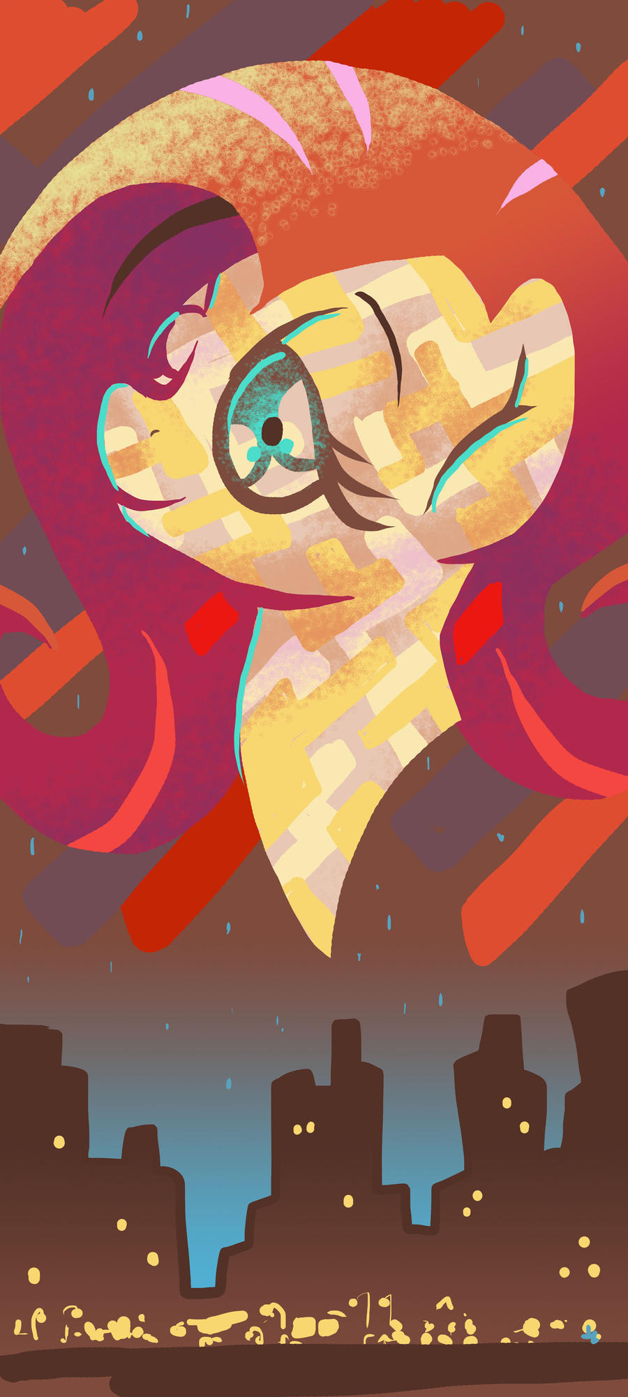 Fluttershy at Night by DocWario
