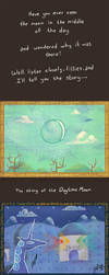 The Story of the Daytime Moon by DocWario