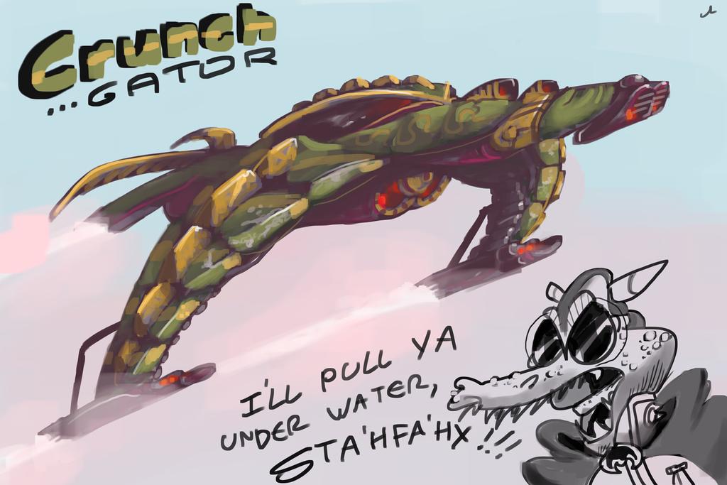 Crunch Gator by DocWario
