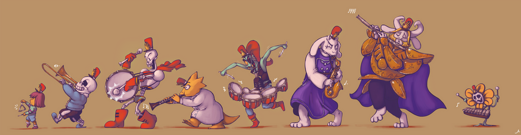 Sgt. Undyne's Determined Souls Club Band